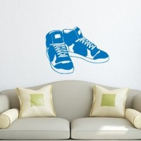 Wall Decals Sports Footwear Sneakers Decal Vinyl Sticker Home Decor Bedroom Interior Window Decals Art Murals Chu1319