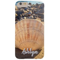 California sandy beach seashell photo custom name barely there iPhone 6 plus case