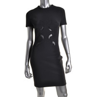 Dion Lee Womens Scuba Lace Cocktail Dress
