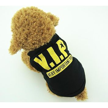 VIP Printed Dog Pet Clothes Puppy Vest Soft Clothes Spring Summer T-shirt Clothing Apperal for Dog Teddy Chihuahua Poodle