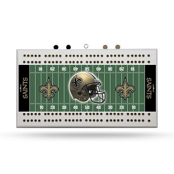NEW ORLEANS SAINTS FIELD CRIBBAGE BOARD