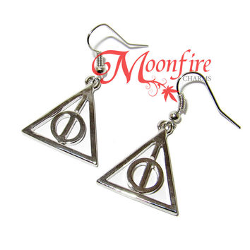 WIZARDING WORLD Deathly Hallows Symbol Earrings
