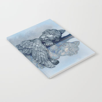 Sleeping Angel Notebook by Theresa Campbell D'August Art