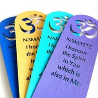 Namaste Om Quote Bookmark