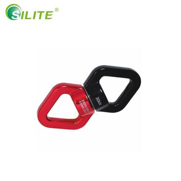 SILITE 30KN Climbing Swivel Connector Rope Rotating Belay Safety Rappel Device Rock Carabiner hanging swings Climb Equipment