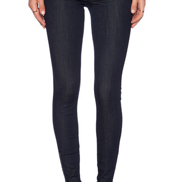 Level 99 Janice Mid-Rise Ultra Skinny Zip in Crimson