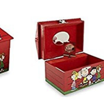 I Love Snoopy Peanuts Characters Musical Jewelry Box