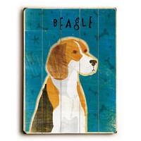 Beagle by Artist John W. Golden Wood Sign