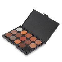 Professional 15 Colors Women Cosmetic Makeup Neutral Warm Eyeshadow Palette TS