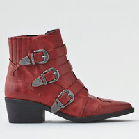 AEO Western Buckle Bootie, Red