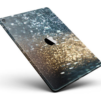 "Teal and Gold Grungy Orbs of Light Full Body Skin for the iPad Pro (12.9"" or 9.7"" available)"