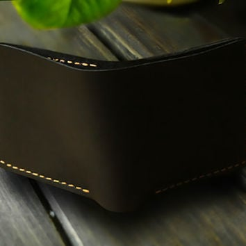 Mens Engraved Wallet/Personalized Men's Leather Bifold Wallet/Minimalist Wallet /credit card wallet/Best Gift