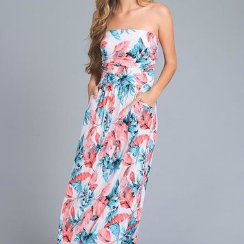 Tell Me Yesterday Tropical Maxi Dress