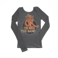 I'm With The Band Longsleeve Thermal - Vintage Black