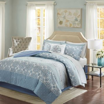 Sybil King 9 pc. Comforter and Cotton Sheet Set