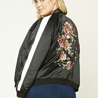 Plus Size Embroidered Jacket