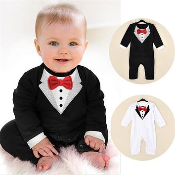 Baby Clothing Sets Gentleman Infant Jumpsuits Baby Boy Clothes Newborn Baby Clothes