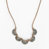 Fan Coin Cord Necklace - Urban Outfitters