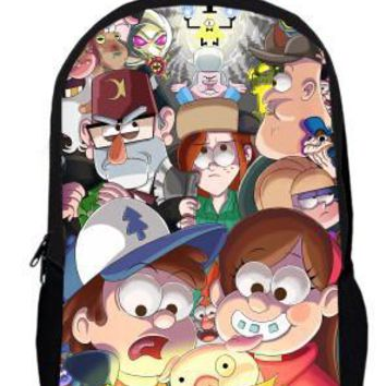 17inch Dipper Bill  Backpack double layer children School bags for Boys and Girls Kids Cartoon movie bag