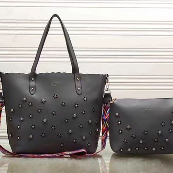 shosouvenir : COACH Women Shopping Leather Tote Handbag Shoulder Bag