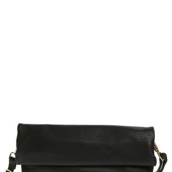Street Level Oversize Rolled Faux Leather Clutch | Nordstrom