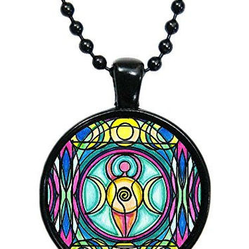 Triple Moon Magic Wicca Goddess Black Pendant