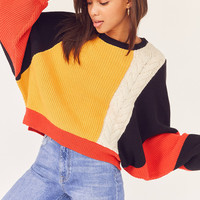 Ecote Crafty Cable Knit Sweater | Urban Outfitters