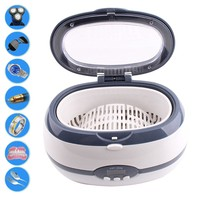 Ultrasonic Cleaner Jewelry Cleaner Watch Glasses Cleaning Digital Ultrasonic Cleaner 600ML 220V-240V For Makeup Remover HB88