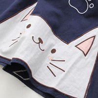 Harajuku Long Sleeve Cat Dress