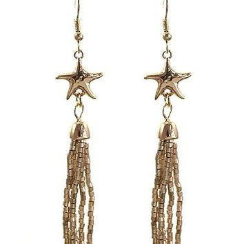 Starfish Tassel Earrings