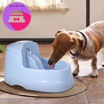 2.5L Electric Pet Drinking Fountain Bowl W/ Carbon Filters