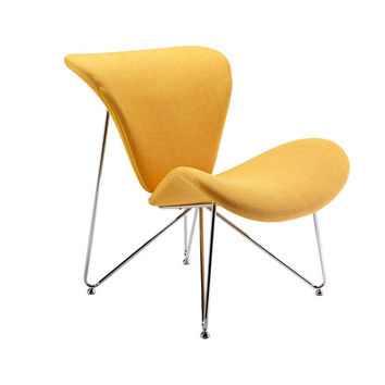Modrest Decatur Contemporary Yellow Fabric Accent Chair 	VGOBTY105-YEL
