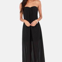 Column What You Like Strapless Black Maxi Dress