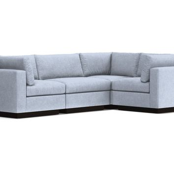 Taylor Plush 4pc Modular L-Sectional Sofa :: Leg Finish: Espresso