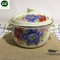 free shipping casserole cooking pot enamel soup stew pot soup pot milk pot kitchen utensil 1-6litre capacity selection