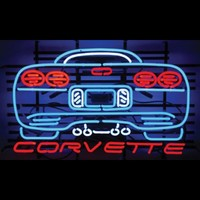 Watch It Speed Away Corvette Neon Sign