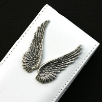 White iPhone 4 Wallet with Angel Wings