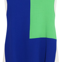 Roksanda Ilincic - Saunton color-block wool-crepe top
