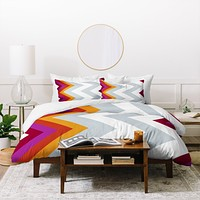 Karen Harris Modernity Solstice Warm Chevron Duvet Cover