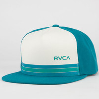 Rvca Barlow Twill Ii Mens Snapback Hat Turquoise/White One Size For Men 22769527701