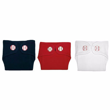 Baby Boys' Baseball Diaper Covers
