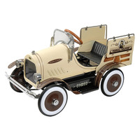 Dexton Kids Deluxe Woody Wagon Roadster Pedal Car - Brown