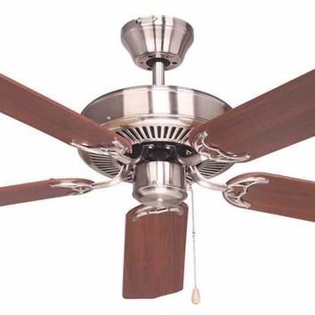 Bala® Light Kit Adaptable Four Or Five Blade Ceiling Fan, 52 In., Antique Nickel With Reversible Ash And Mahogany Blades