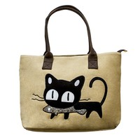 Beau and Moe Cat Tote