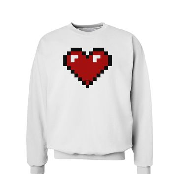 Pixel Heart Design 1 - Valentine's Day Sweatshirt