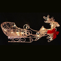 Reindeer Christmas Figure - Clear Led Lights On Clear Wire