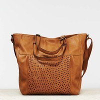 AEO Women's Perforated Tote Bag (Vachetta Brown)
