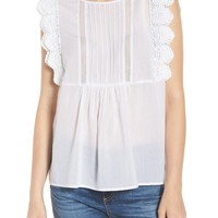 Chelsea28 Lace Trim Top | Nordstrom