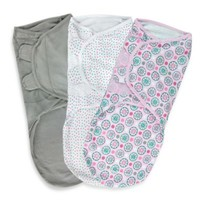 Summer Infant® SwaddleMe® Large 3-Pack Adjustable Blankets in Geo Floral