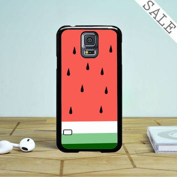 Watermelon Fruit Cute Pink And Green Funny Custom Samsung Galaxy S5 Case